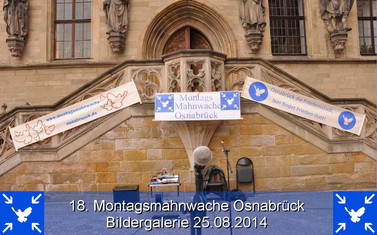 18. Montagsmahnwache Osnabrück Bildergalerie 25.08.2014