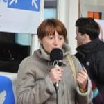 spontane Ansprache einer Teilnehmerin (c) Montagsmahnwache Osnabrück, Photos Nicole Behrendt