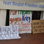 Transparente, Schilder (c) Montagsmahnwache Osnabrück, Photos Nicole Behrendt