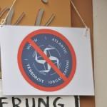 North Atlantic Terror Organization Schild Transparente (c) Montagsmahnwache Osnabrück, Photos Nicole Behrendt