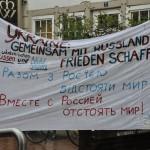 Gemeinsam Frieden schaffen Transparent (c) Montagsmahnwache Osnabrück, Photos Nicole Behrendt