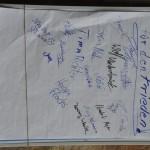 Unterschriften für den Frieden - Flipchart