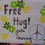 Free Hug - Schild