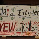 Ja zu Frieden - Nein zu Krieg - Schild