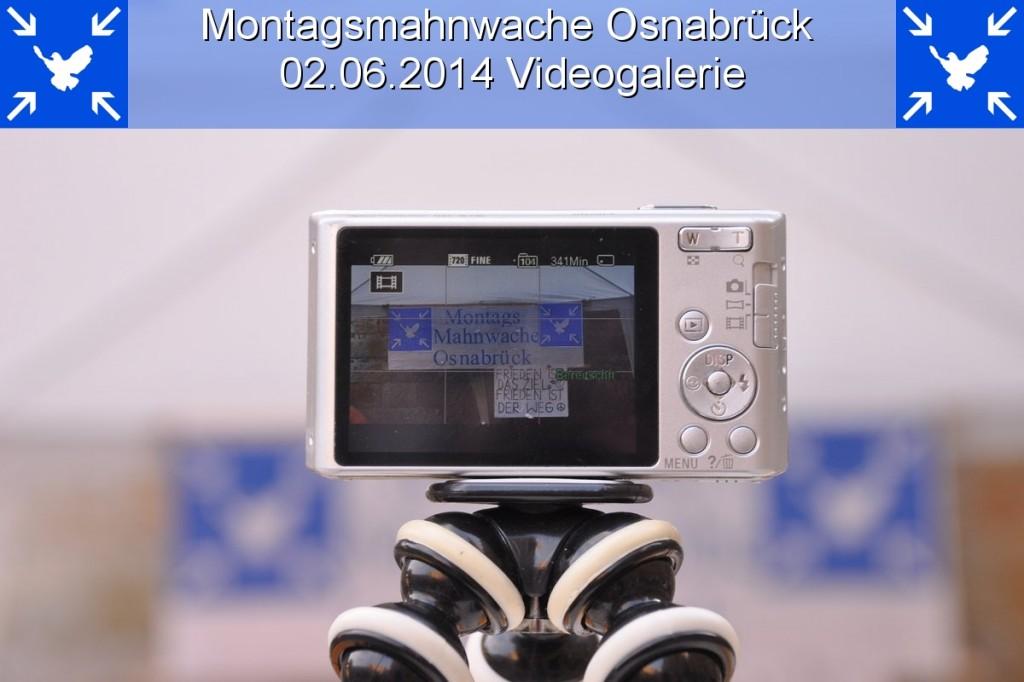 Videogalerie der 5. Montagsmahnwache Osnabrück, historisches Rathaus / Markt, 02.06.2014