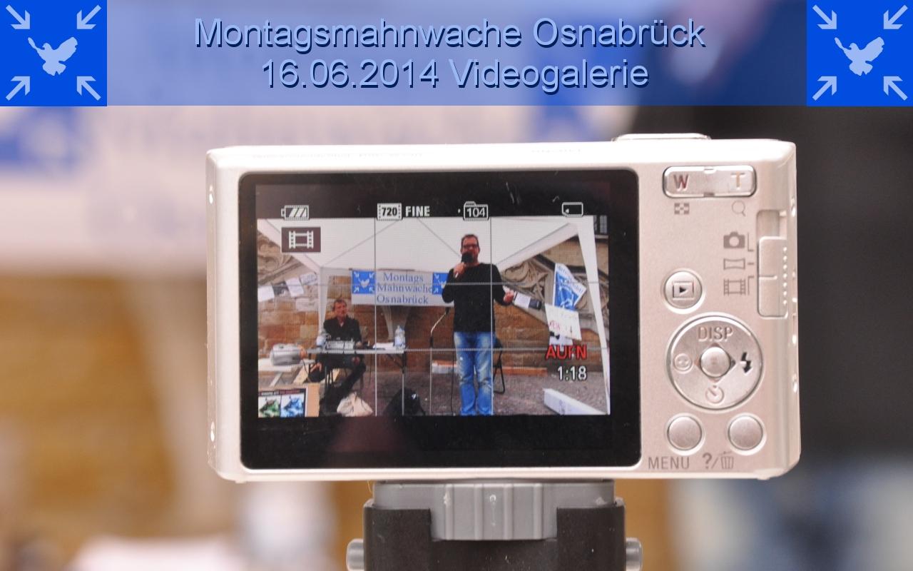 Videogalerie der 7. Montagsmahnwache Osnabrück, historisches Rathaus / Markt, 16.06.2014