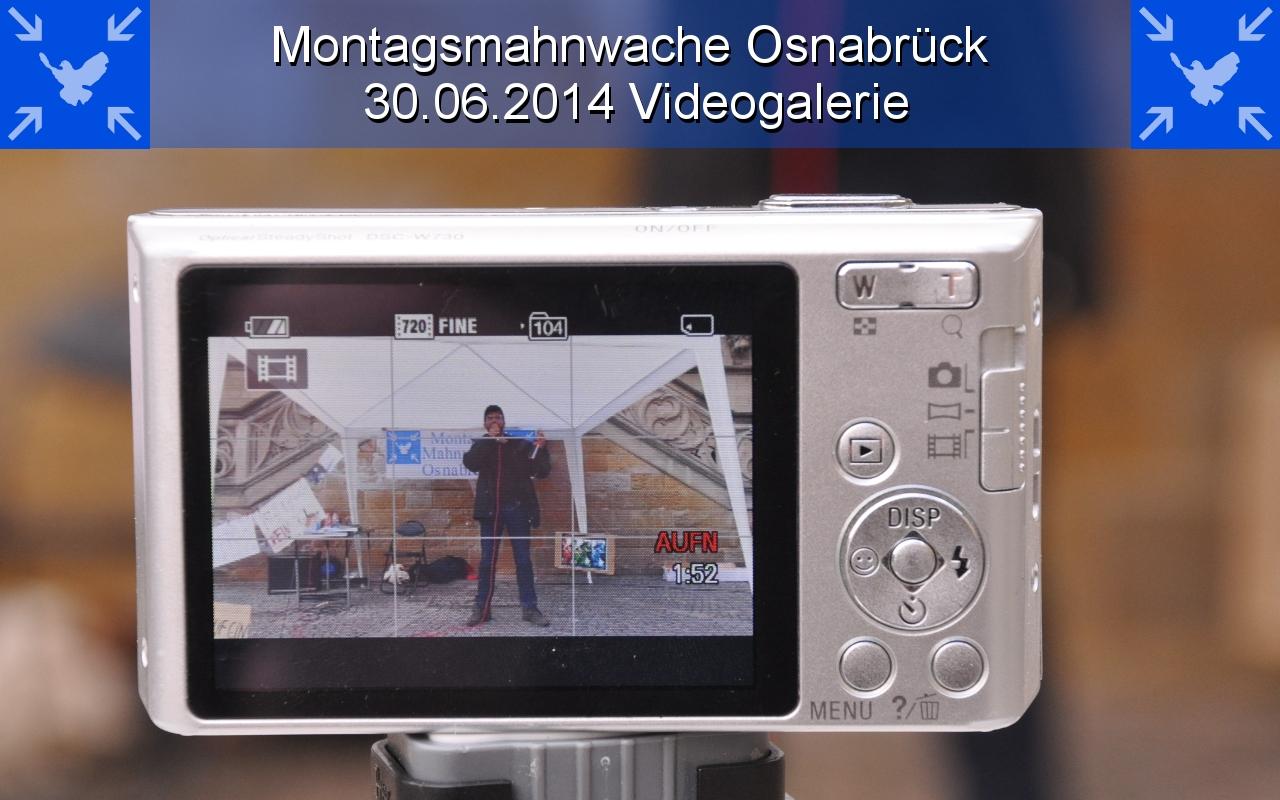 Videogalerie der 9. Montagsmahnwache Osnabrück, historisches Rathaus / Markt, 30.06.2014