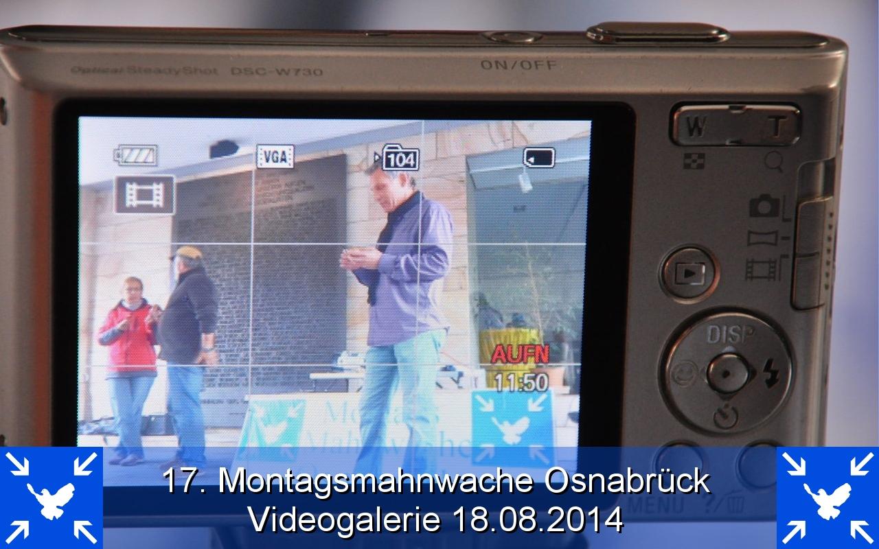 Videogalerie Montagsmahnwache Osnabrueck 18.08.2014