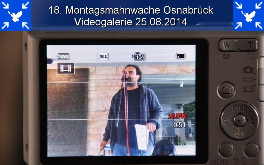 18. Montagsmahnwache Osnabrück Videogalerie 25.08.2014 opener