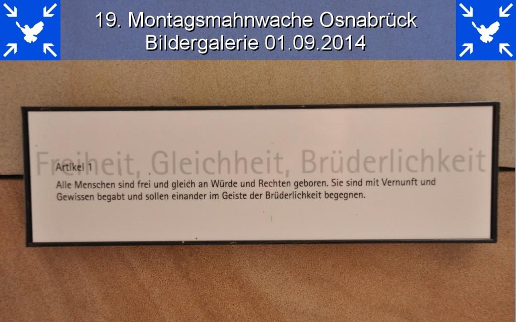 Bildergalerie 19. Montagsmahnwache Osnabrück 01.09.2014
