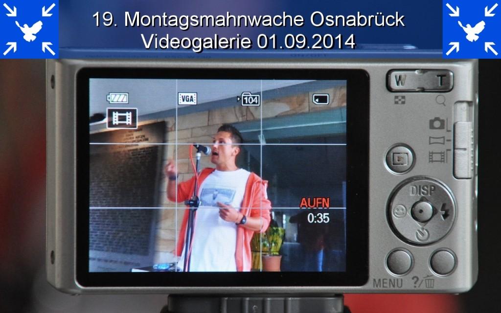Videogalerie 19. Montagsmahnwache Osnabrück 01.09.2014